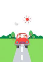 ドライブをする2人のカップル クラフト 11017000517| 写真素材・ストックフォト・画像・イラスト素材|アマナイメージズ