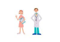 医者と看護師 クラフト 11017000547| 写真素材・ストックフォト・画像・イラスト素材|アマナイメージズ