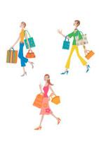 買い物をする3人の女性 クラフト