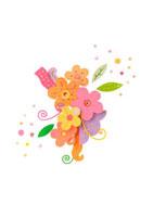 紙で作った花のイメージ クラフト
