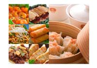 中華料理の集合 コラージュ
