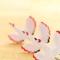 3つの鶴のオブジェ クラフト