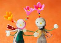 花の妖精のクラフト 11017001733| 写真素材・ストックフォト・画像・イラスト素材|アマナイメージズ