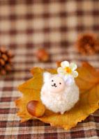 白い羊のクラフト