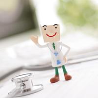 聴診器と医者のクラフト 11017004309| 写真素材・ストックフォト・画像・イラスト素材|アマナイメージズ