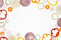 野菜の輪切りのフレーム