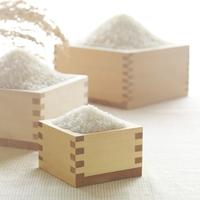 升に盛った米と稲穂