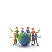 地球を囲む家族 クラフト