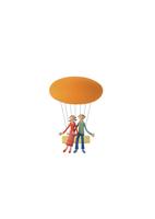 気球に乗るカップル クラフト