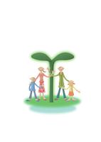 緑の葉と家族 クラフト