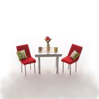 ミニチュアルームのテーブルといす クラフト