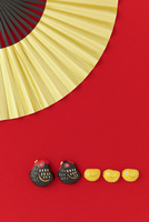 ニワトリとヒヨコと扇子 干支のクラフト