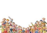 たくさんの人 クラフト 11017017844| 写真素材・ストックフォト・画像・イラスト素材|アマナイメージズ