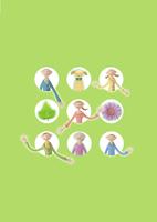 窓から手をふる家族と植物 クラフト 11017017847| 写真素材・ストックフォト・画像・イラスト素材|アマナイメージズ