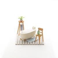 浴室のミニチュアルーム クラフト 11017017909| 写真素材・ストックフォト・画像・イラスト素材|アマナイメージズ
