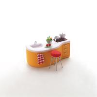 ミニチュアルームのキッチン クラフト
