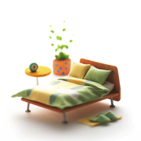 寝室のミニチュアルーム クラフト