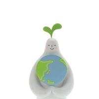地球を抱えた白い人 クラフト