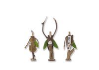 立っている木の人形のオーケストラ クラフト
