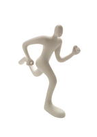 右足を前に走る人のオブジェ クラフト