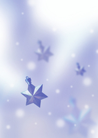 ブルーの星のオブジェ