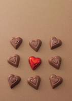 複数のハートのチョコレート