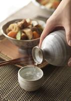 日本酒と筑前煮