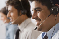 businesspeople wearing headsets 11018021694  写真素材・ストックフォト・画像・イラスト素材 アマナイメージズ