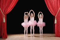 girls performing ballet recital