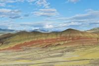 Painted hills in desert landscape, Bend, Oregon, United States