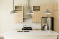 Light fixtures in modern kitchen
