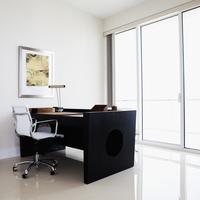 Desk and table in modern office 11018053097| 写真素材・ストックフォト・画像・イラスト素材|アマナイメージズ