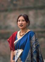 Asian woman wearing traditional clothing
