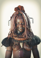 Black woman wearing traditional headdress