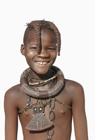 Black girl wearing traditional necklace