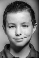 Close up of Caucasian boy smiling