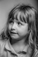 Close up of Caucasian girl looking away