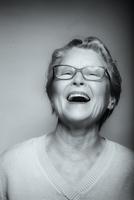 Close up of senior Caucasian woman laughing