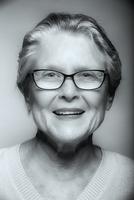 Close up of senior Caucasian woman smiling