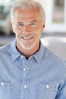 Close up of smiling Caucasian man