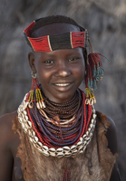 Black girl wearing traditional jewelry