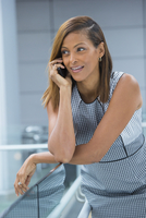 Black businesswoman talking on cell phone