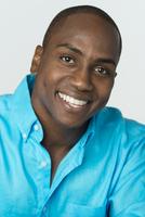 Black man smiling