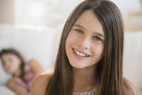 Caucasian girl smiling