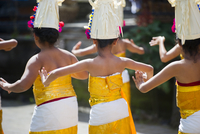 Girls dancing in traditional ceremony