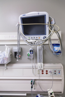 Medical equipment on hospital wall