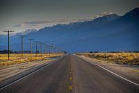 Empty road in remote landscape