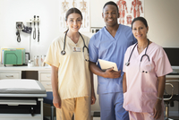 Nurses smiling in clinic