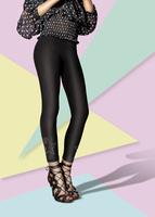 Woman wearing high heels and leggings