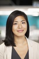 Asian businesswoman smiling